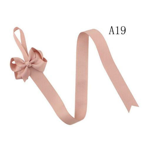 2pc Girls Hair Bow Grosgrain Ribbon Baby Hair Clip Holder Storage Organizer ZB
