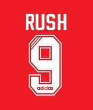 No 9 Rush Liverpool 1995-1996 Home Football Nameset for Shirt LFC