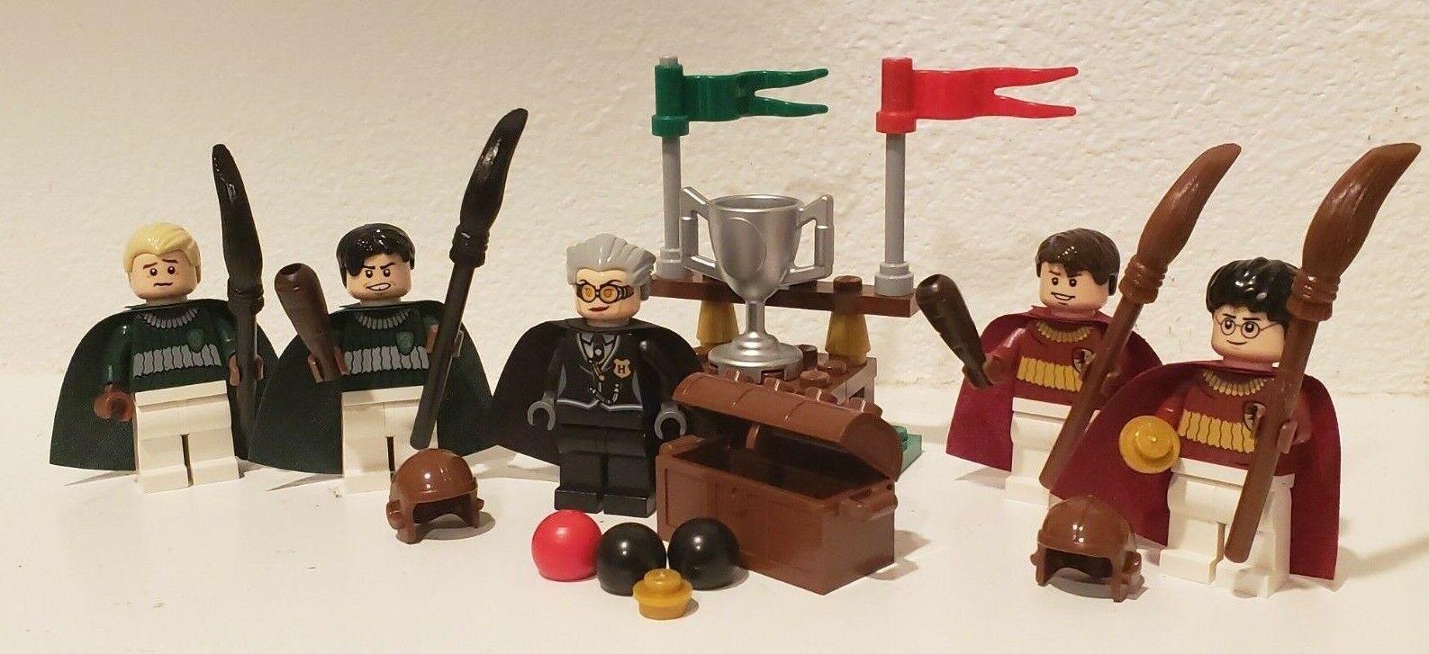 Echte lego harry potter quidditch quidditch quidditch - team kooperation viel schnaps malfoy holz 4737 a6bdad