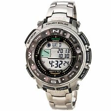 Casio PRW2500T-7 Mens Pathfinder Solar Powered Titanium Atomic Moon Phase Watch
