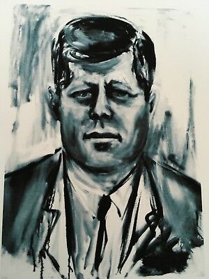 Vintage Art James Wyeth Detail Portrait President John F Kennedy Jimmy Carter