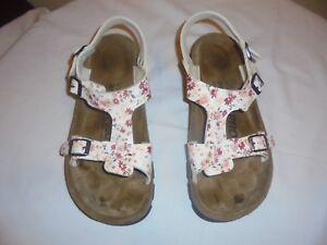 c269589cda19 EUC Alpro by Birkenstock Sandals Women s Size 10 8 White flowery