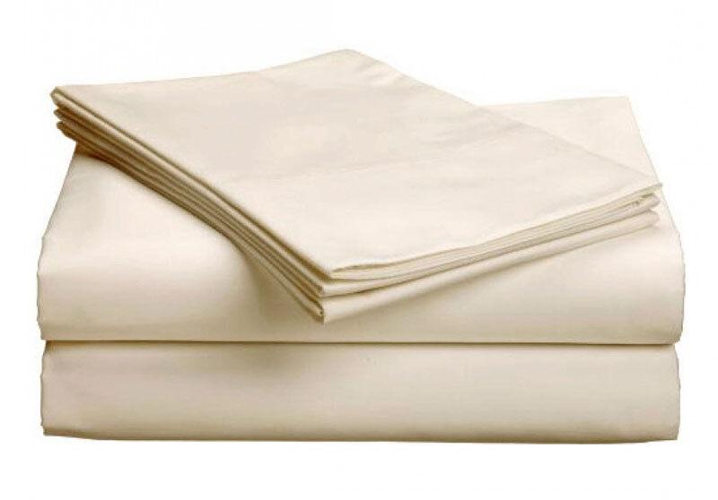 QUEEN Organic 100% Cotton Percale Bed Sheet Set USA (GOTS) Chemical Free No Dye