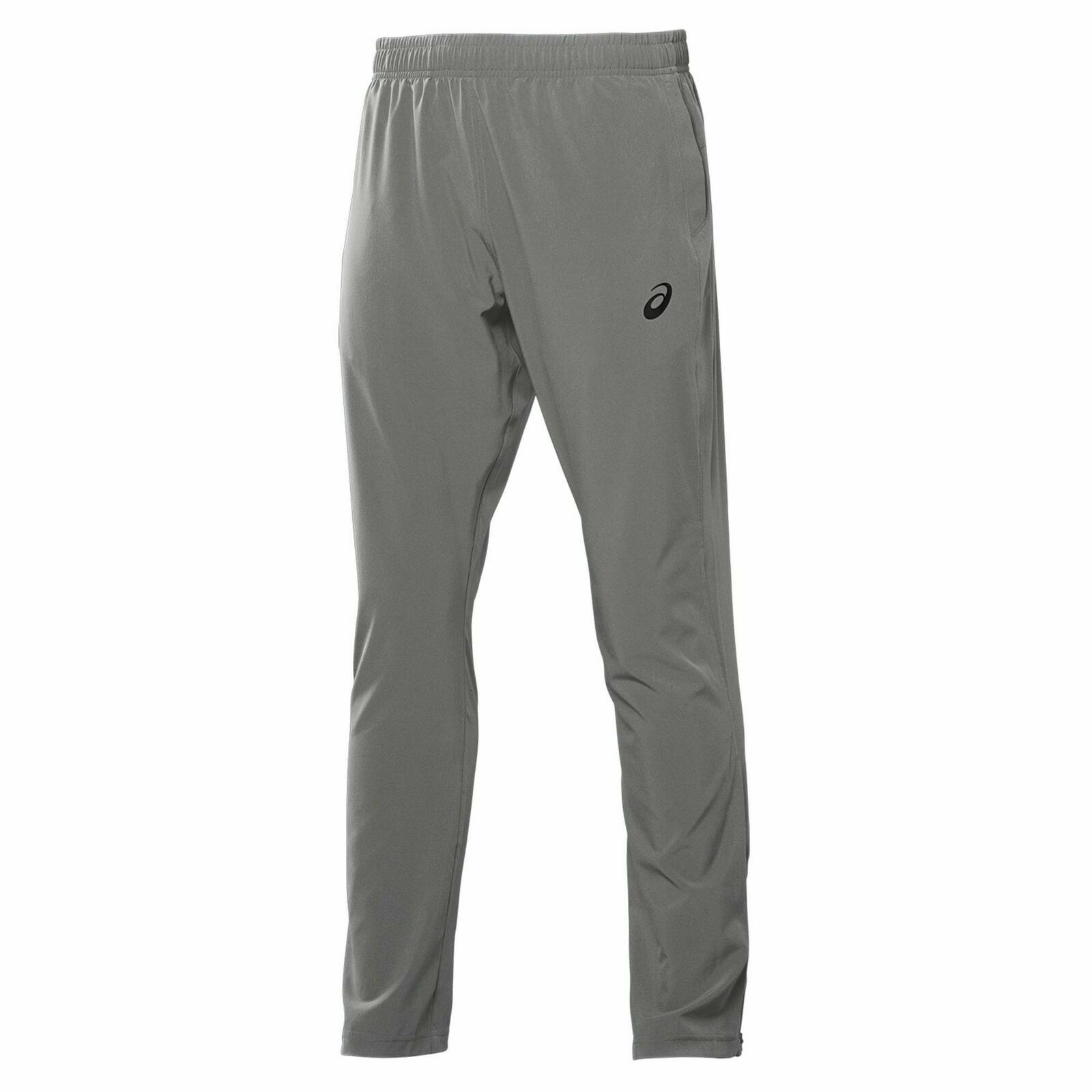 Asics Mens Woven Track Pants Casual Lounge Joggers Grey 113988 0702