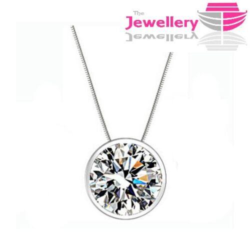 Plata Cristal adjunto CZ Collar Joyería para mujeres damas regalos