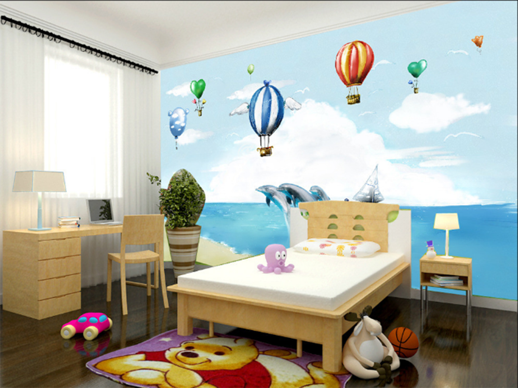 3D Ballon Delphin Delphin Delphin Strand 795 Tapete Wandgemälde Tapeten Bild Familie DE Summer | Neueste Technologie  |  4ccad4