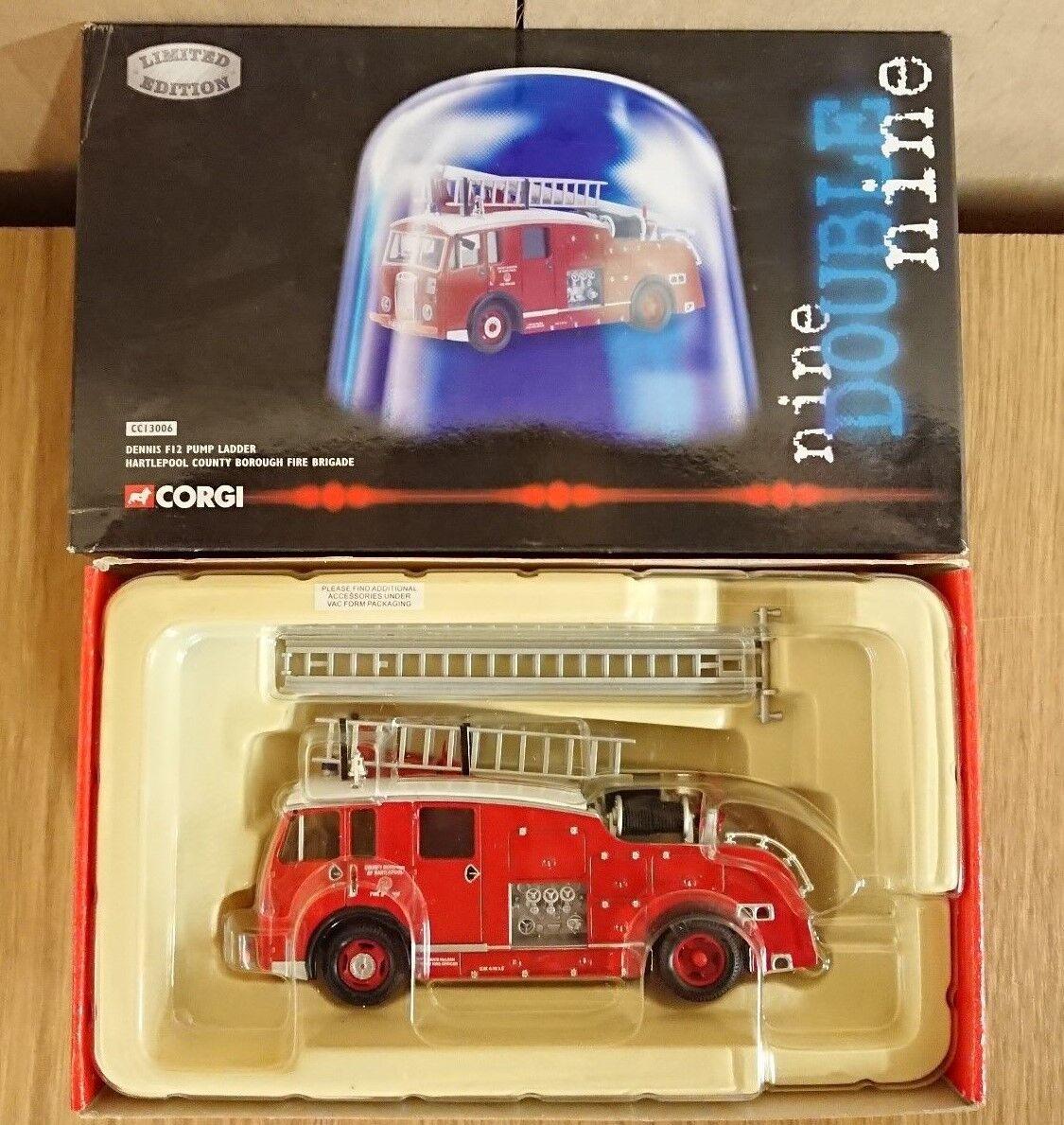 Corgi 999 CC13006 Dennis F12 Pump Ladder Hartlepool Ltd Ed. No. 0003 of 1700