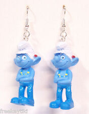 Classic Original Architect Smurf The Smurfs Figures Figurines Dangle Earrings