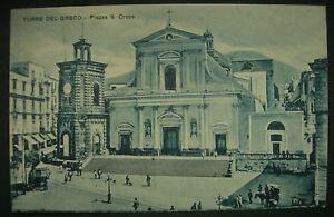 CARTOLINA-ANTICA-TORRE-DEL-GRECO-NAPOLI-PIAZZA-S-CROCE-INIZIO-039-900