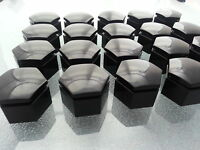 - Dodge Challenger Wheel Lug Nut Cover Black (qty:20) (black-22mm)-g8