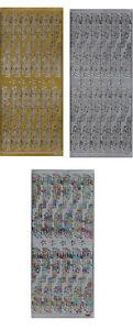 Zierstickerbogen-Scrapbooksticker-Sticker-Frohe-Weihnachten-106-108-Basteln