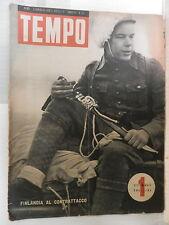 TEMPO 4 gennaio 1940 Finlandia Canale di Suez Terremoto in Anatolia Pontefice di