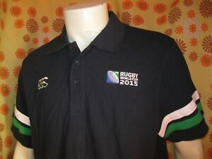 Ancien Polo Maillot Canterbury Of New Zealand Irb Rugby World Cup England 2015 RéSistance Au Froissement