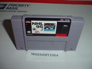 NHL 95 hockey game cartridge for SUPER NINTENDO SNES system