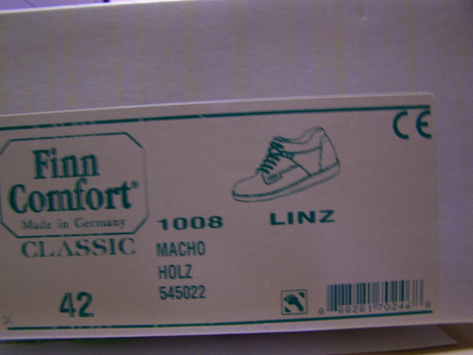 Finn Comfort Schuhe Lederfutter Modell Linz Holz braun braun braun genarbt & Schuhbeutel dbca37