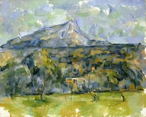Mont-Sainte-Victoire-2-by-Paul-Cezanne-Giclee-Repro-on-Canvas