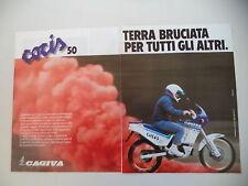 advertising Pubblicità 1988 MOTO CAGIVA COCIS 50