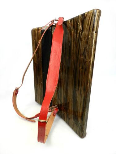 Akkordeongurte rot Hochwertige 4.5cm Akkordeon Schulterriemen  80-120 Bass