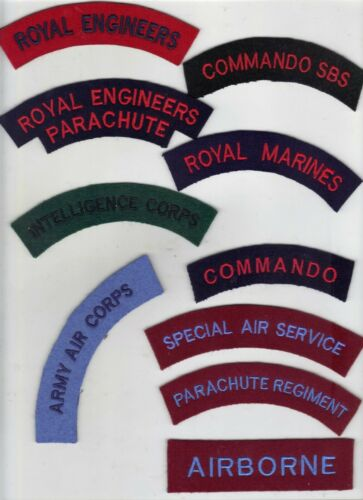 SPECIAL AIR AND BOAT SERVICE//MARINES//COMMANDO//PARA REGT//RE PARA//RE//AAC//INT CORPS