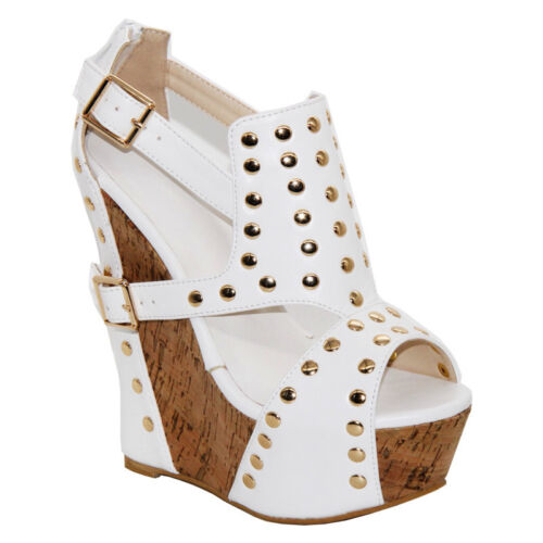 tobillo de de cuña Sandalias Plataforma para Tacón Peep altos Toes mujer Correa Tacones Gladiador z8qxad