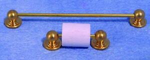 Towel Rail & Toilet Roll Holder, Dolls House Miniatures, Bathroom Fixtures
