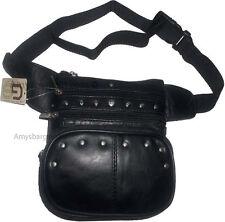 Leather waist pouch large waist bag leather bag Fanny pack sports bag pocket BN