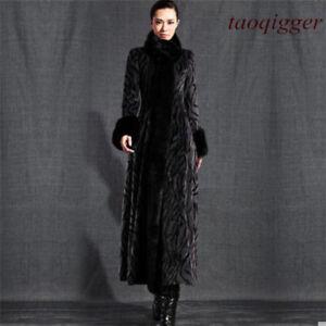 donna caldo e Abito di pelliccia Cappotto Collo donna elegante da da sera di di visone lana da chic wEnAIqIRa
