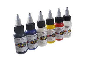 airbrush paint pro color test set kit of six 1oz. Black Bedroom Furniture Sets. Home Design Ideas