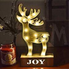 17 LED Warm White Light Wooden Reindeer Light Christmas Festive Table Decoration