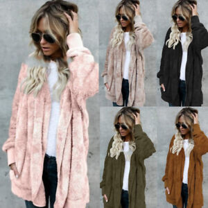 Women-039-s-Long-Oversized-Loose-Knitted-Sweater-Cardigan-Outwear-Coat-New