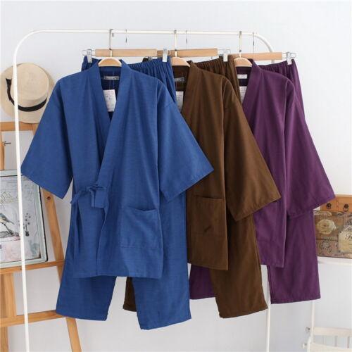 pigiama giapponese Pigiama in cotone invernale kimono lungo uomo twg4f
