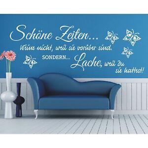 Spruch-WANDTATTOO-Schoene-Zeiten-Lache-Du-Wandsticker-Wandaufkleber-Sticker-6