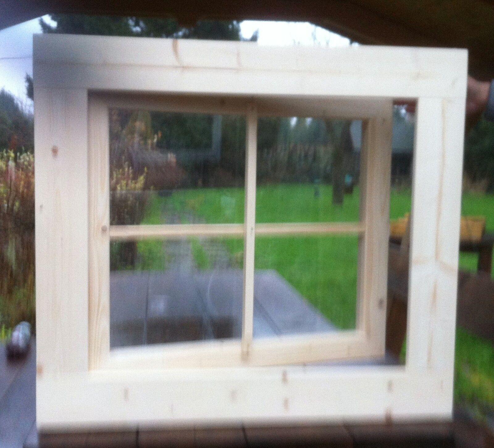 Fenster Holzfenster Carport Gartenhausfenster 72 x 72 cm Dreh ++NEU+++