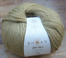 Rowan Fino Encaje Baby Suri Alpaca Lana Gres beigey Verde Lote 5 X 50g £ 30