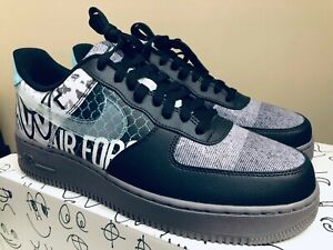 Nike Air Force 1 Low Graffiti Off NoirPure Platinum For Sale
