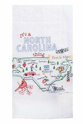 Kay Dee State North Carolina Kitchen Embroidered Dish Towel