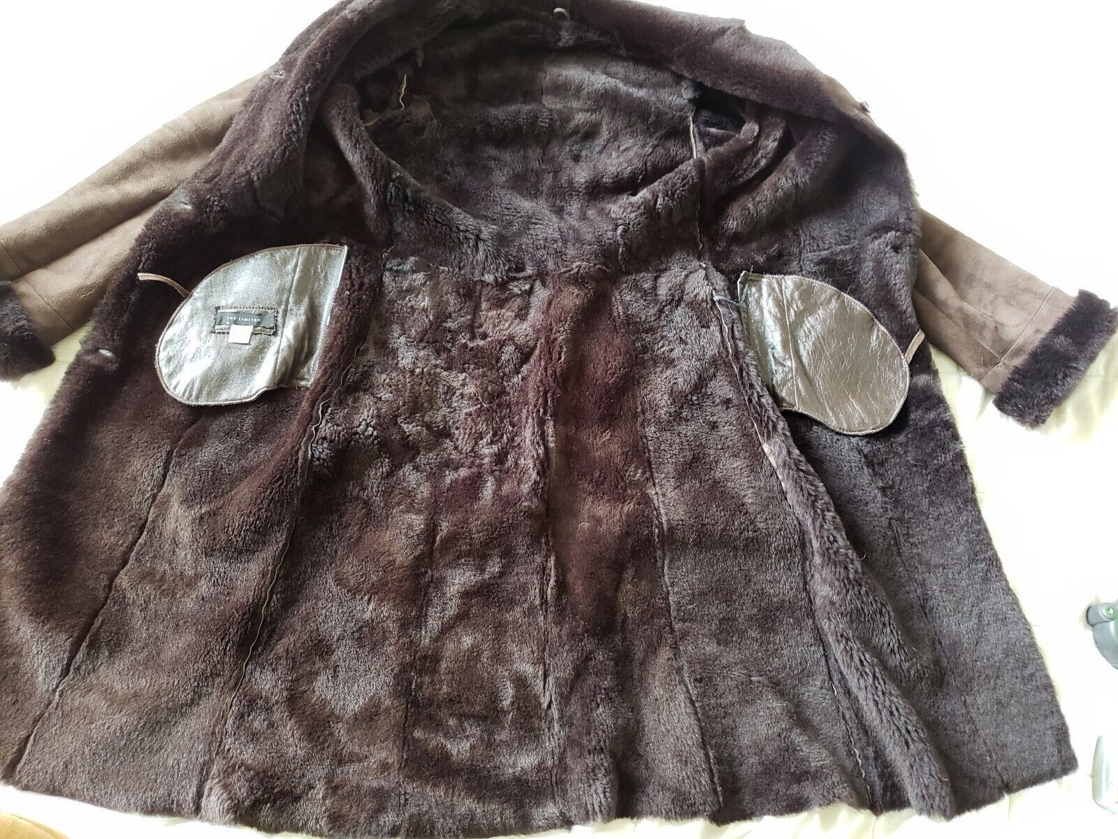 The Limited genuine full length shearling coat sl… - image 2