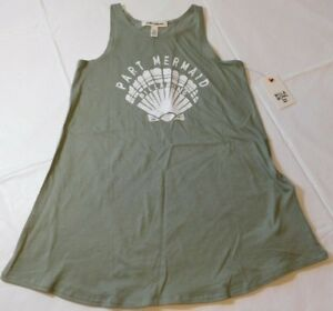 Billabong-Girls-Tank-Top-Sleeveless-sz-XS-6-6X-Choose-You-lite-olive-NWT