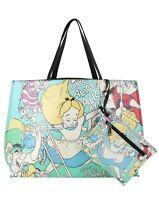 Disney Alice In Wonderland Loungefly Pop Art Falling Tote Bag Purse & Pouch