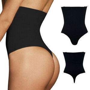 5bf44831cf35d High Waist Thong G-String Tummy Control Girdle Shaperwear Body ...