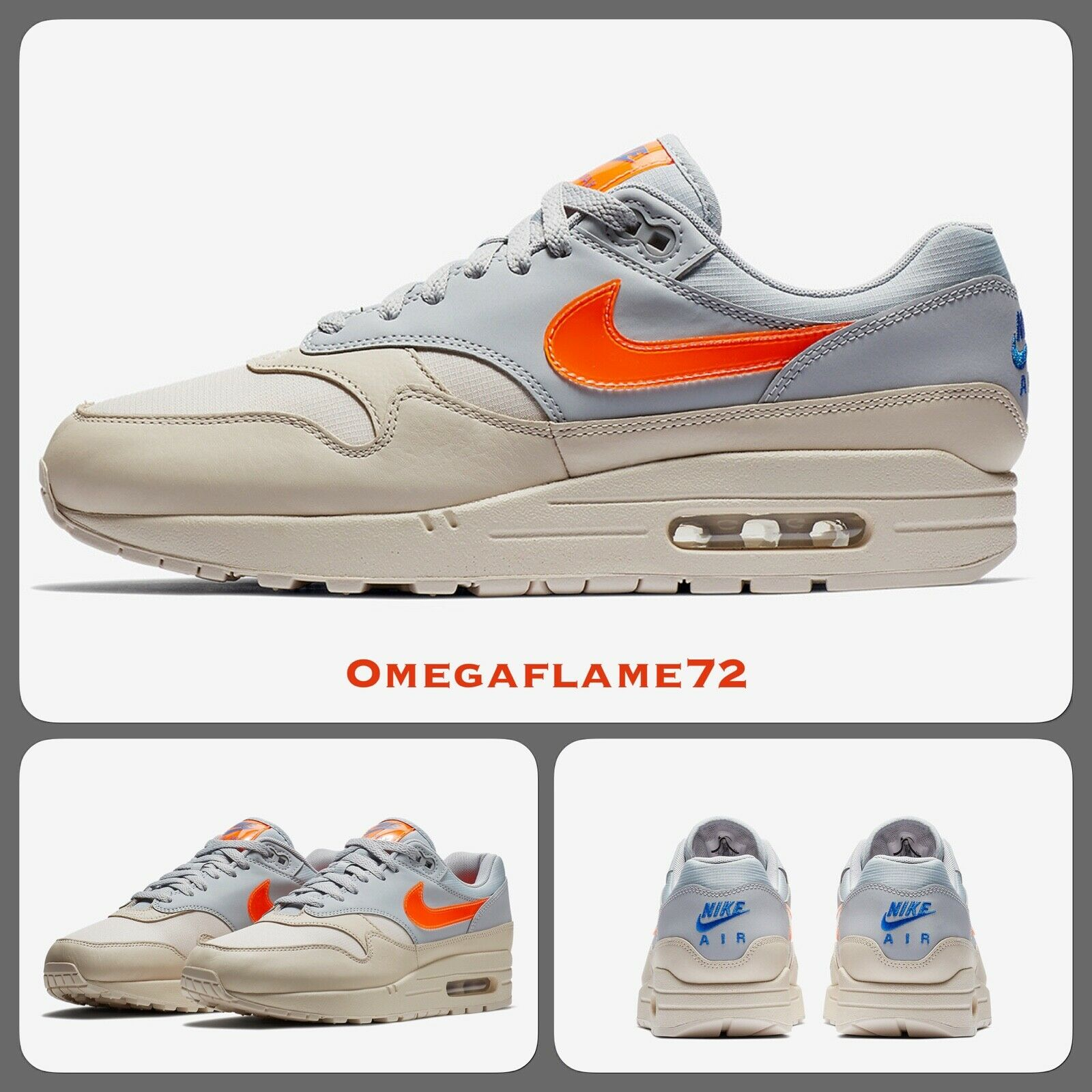 Nike Air Max 1, AR1249-001, UK 6.5, EU EU EU 40.5, US 7.5, Desert Sand, Total Orange f95