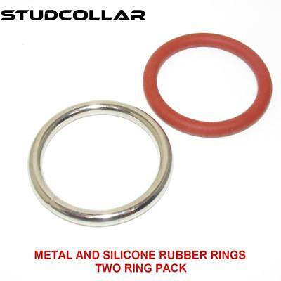 Able Studcollar-metal/silicone-rubber Glans Rings Body Enhancing Devices 25mm & 32mm Penis Glans Rings Lustrous