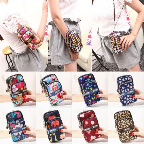 Canvas Cellphone Shoulder Bag Waterproof  Crossbody Portable Pouch Clutch New