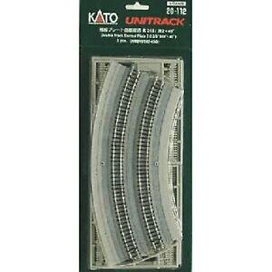 KATO-20-112-Unitrack-Voies-Doubles-Courbes-Plateform-R315-282mm-45-N-1-160