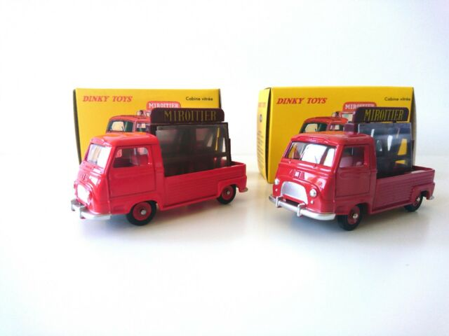 Lot de 2 DINKY TOYS Renault Miroitier Estafette orange et rouge DeAgostini+Atlas
