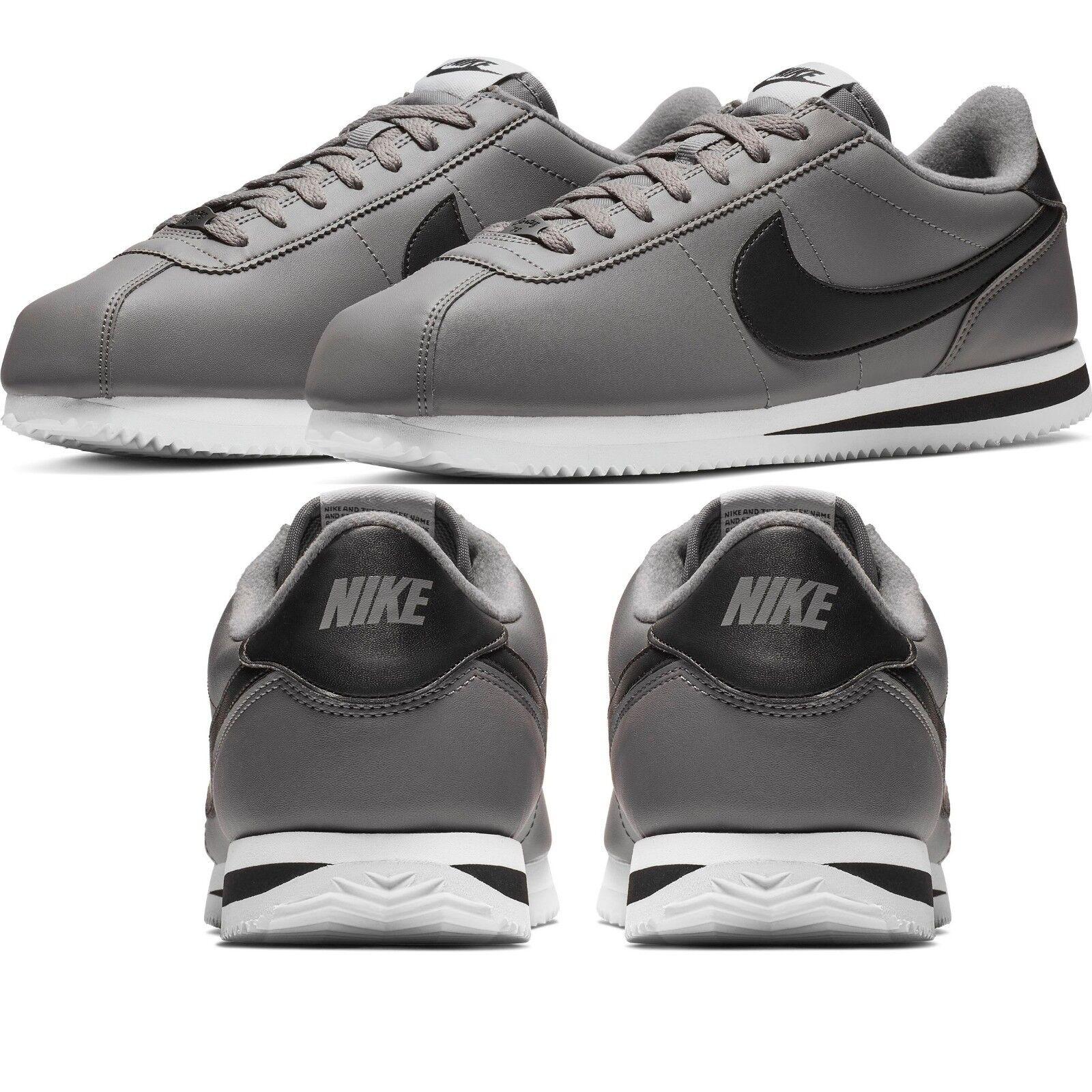 Nike Cortez Basic Men's Sneakers Lifestyle Comfy shoes Gunsmoke White Black