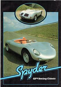 Gp Spyder Mid 1980s Uk Market Leaflet Sales Brochure Vw Beetle Based