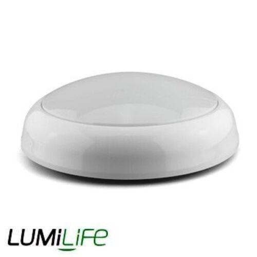 Round LED Light IP44 15W 2D Bulkhead Robust Ceiling Wall Lamp Microwave Sensor