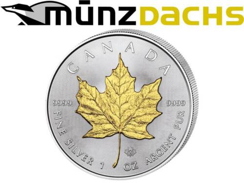 $5 Dollar Silver Maple Leaf .9999 fine Canada 2014 gilded gold plated