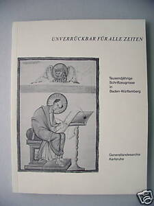 Unverrueckbar-fuer-alle-Zeiten-1992Schriftzeugnisse-Baden